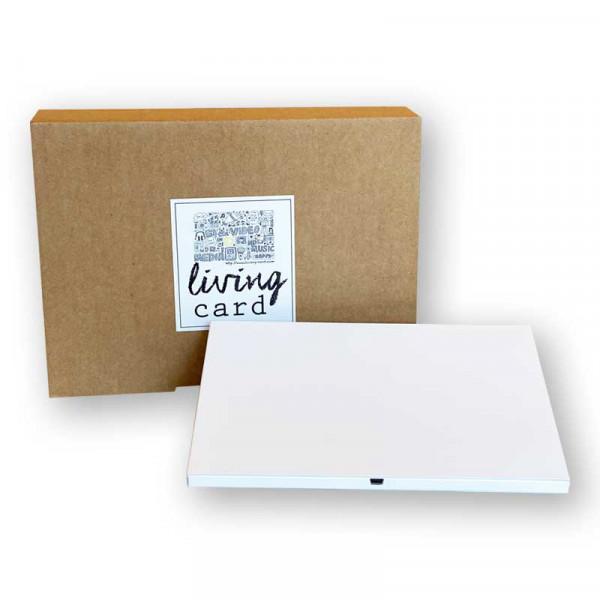 Living Card - DIY- A5 7.0 Zoll querformat weiss