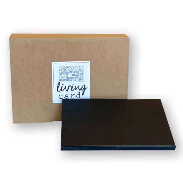 Living Card - DIY- A5 7.0 Zoll querformat schwarz