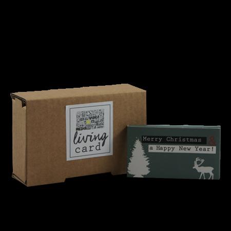 Living Card - Weihnachtskarte - 90 x 50, 2,4 Zoll grün