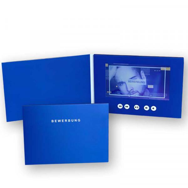 Digitale Bewerbungsmappe A5 7.0 Zoll querformat blue