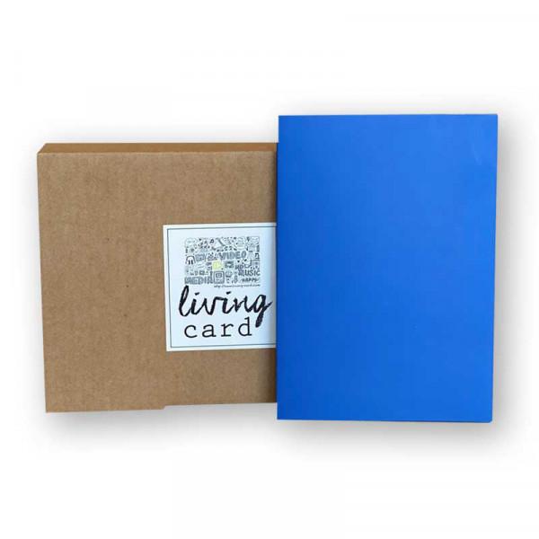 Living Card – die Moderne Grußkarte / Video Karte 4,3 Zoll blue