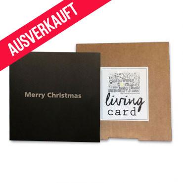 Living Card - Weihnachtskarte - 147 x 147 mm - 4,3 Zoll schwarz silber