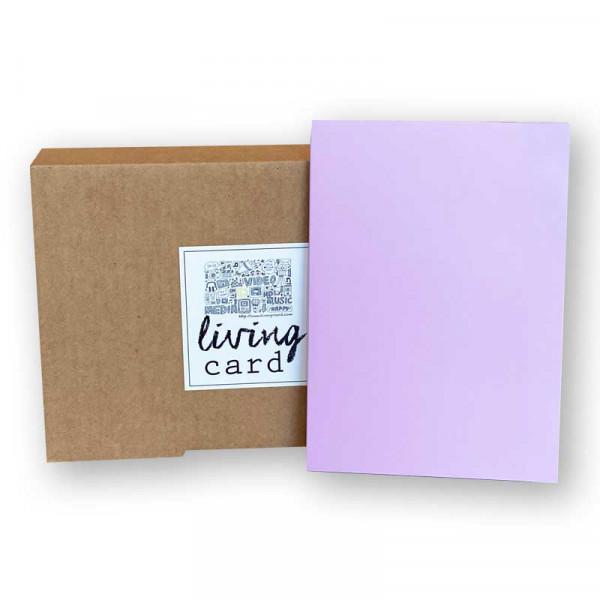 Living Card – die Moderne Grußkarte / Video Karte 4,3 Zoll purple