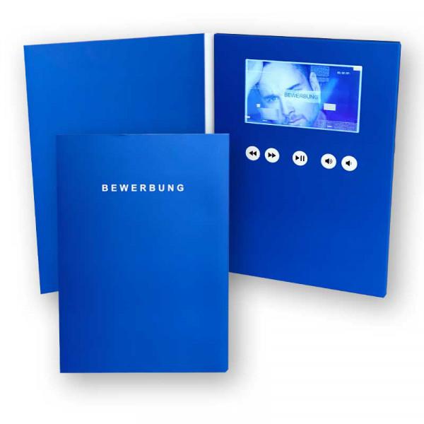 Digitale Bewerbungsmappe A5 4,3 Zoll hochformat blue